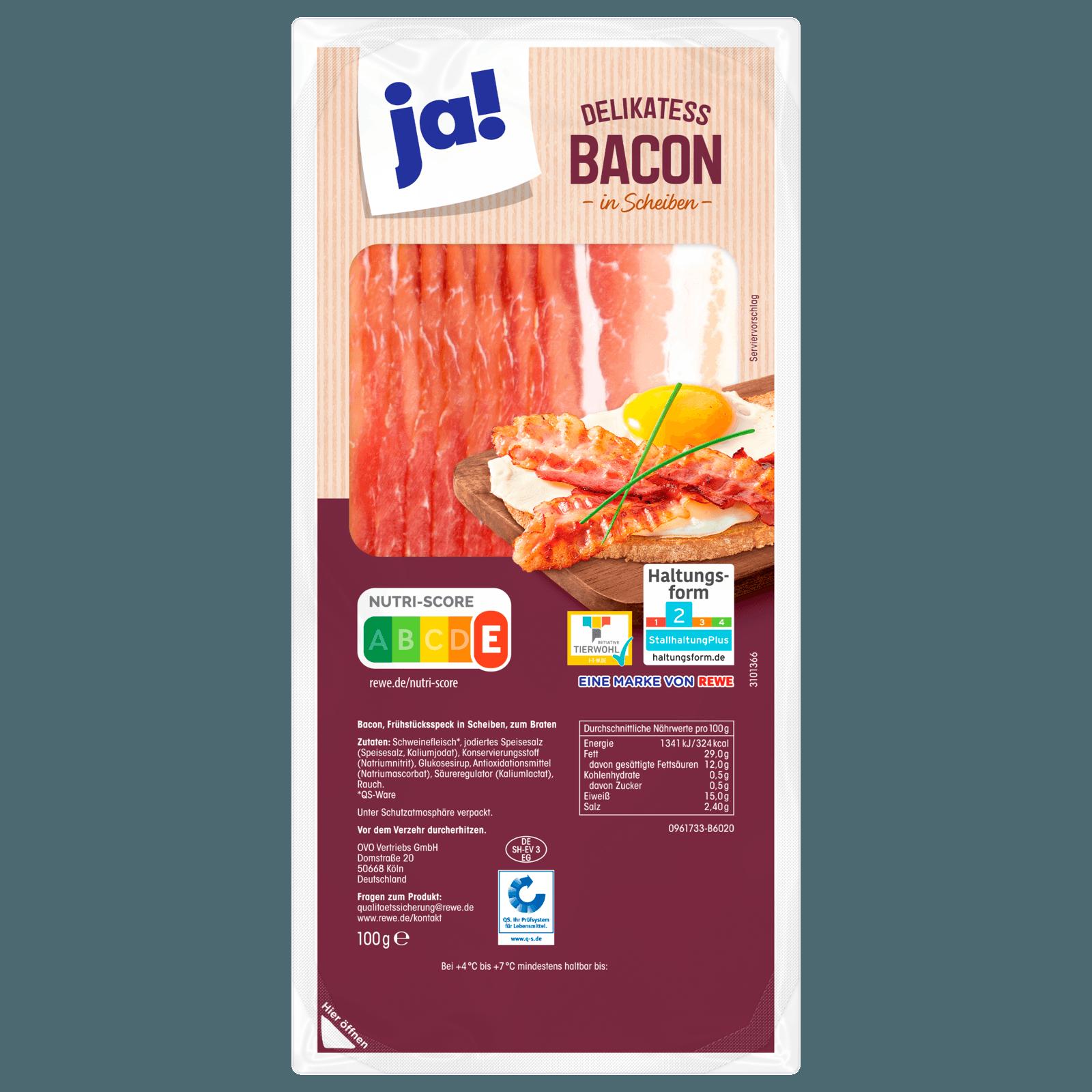 ja! Delikatess-Bacon 100g