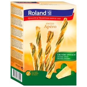 Roland Swiss Apero Gruyere/Spinat 100g