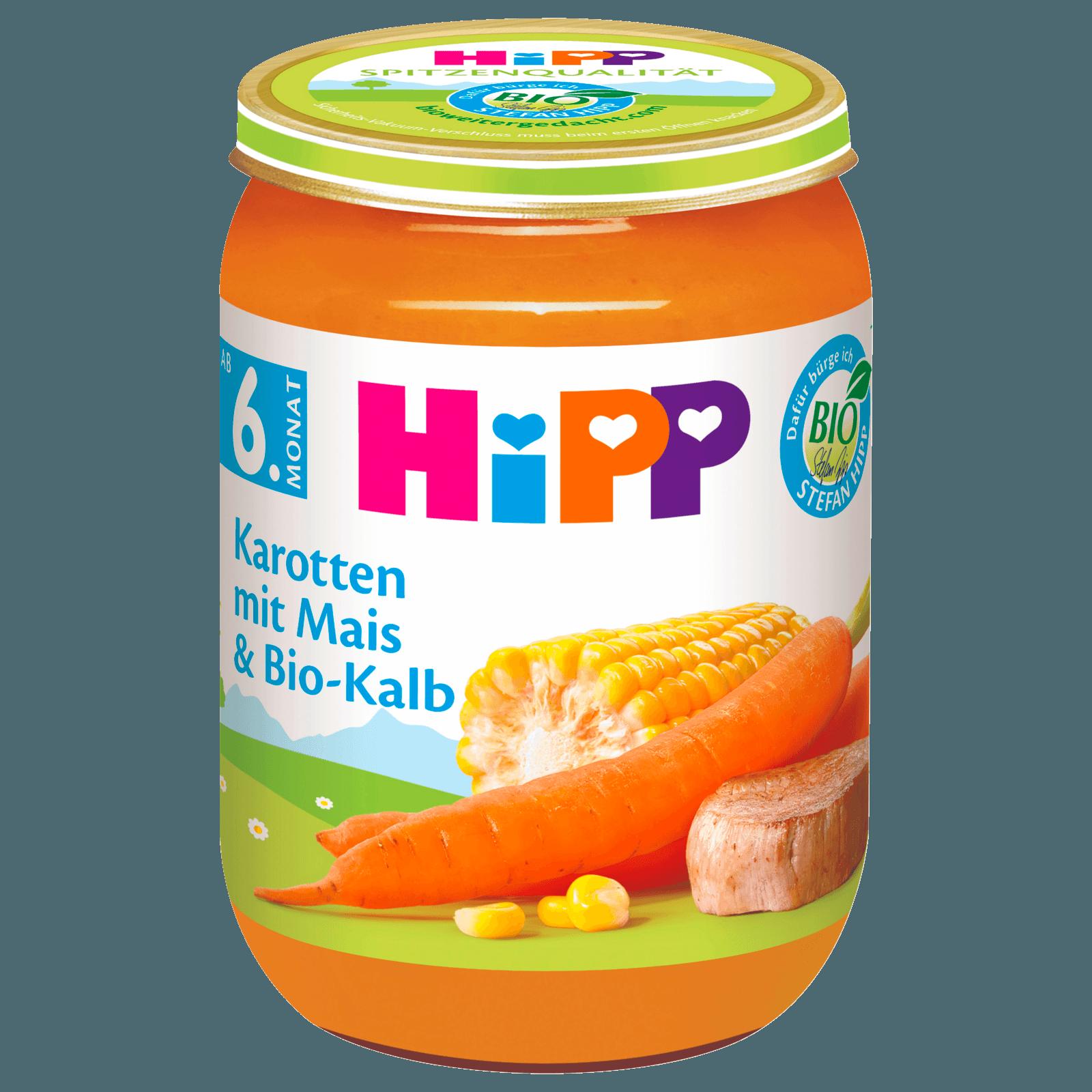 Hipp Karotten mit Mais & Bio-Kalb 190g