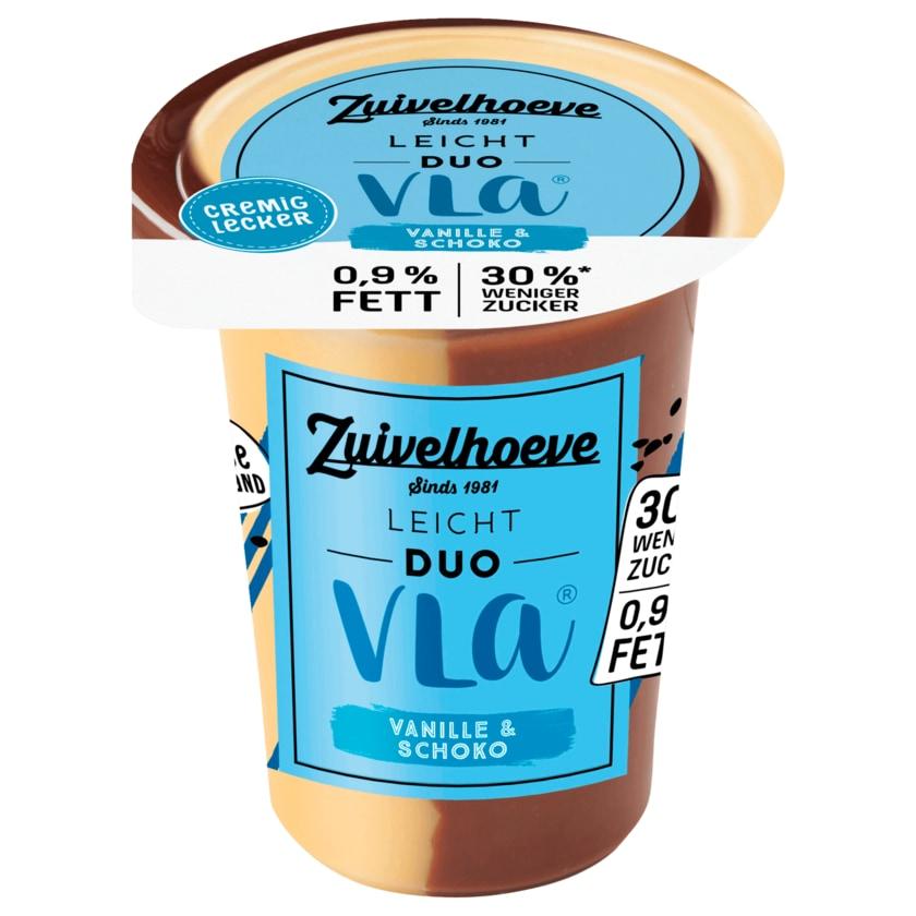 Zuivelhoeve Leichter Genuss Duo-Vla Vanille-Schokolade 500g