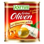 Kattus Spanische grüne Oliven mit Käsecreme 85g