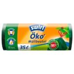 Swirl Öko-Müllbeutel mit Zugband 35l, 12 Stück