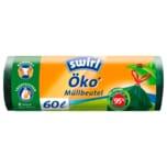 Swirl Öko-Müllbeutel mit Zugband 60l, 8 Stück