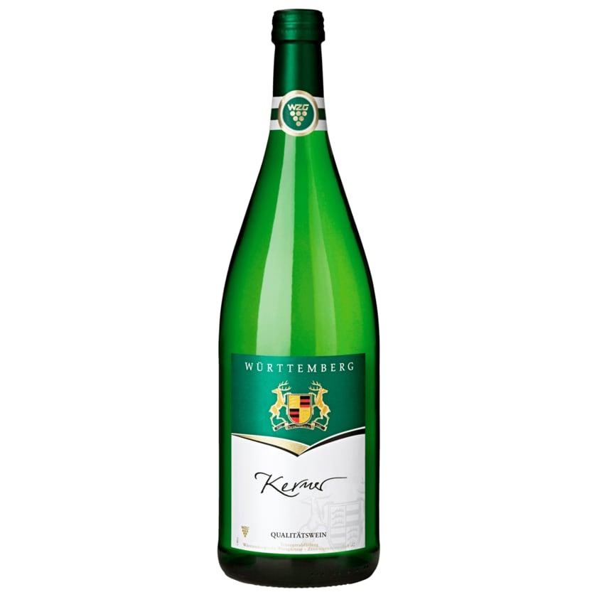 Württemberger Weißwein Kerner QbA halbtrocken 1l