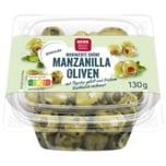 REWE Beste Wahl Grüne Oliven gefüllt mit Paprika 130g