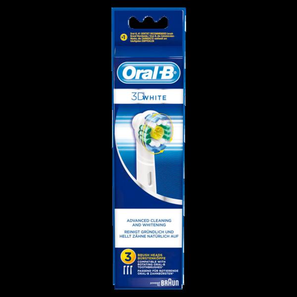 Oral-B Aufsteckbürsten Power EB-18 3D White 3 Stück