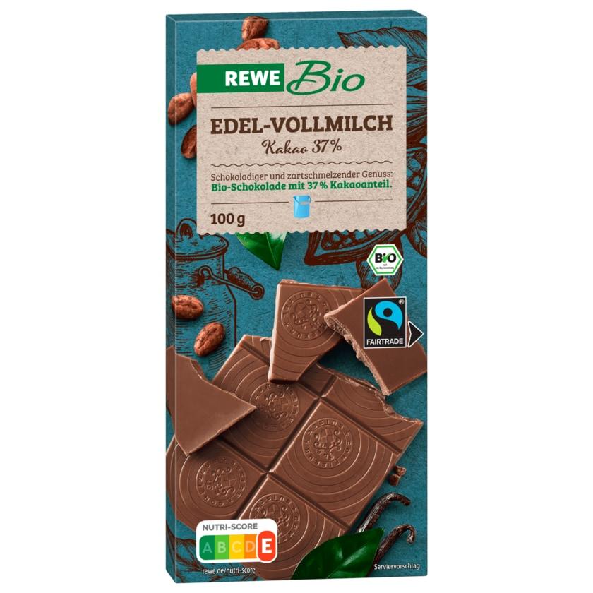 REWE Bio Edelvollmilch-Schokolade 100g