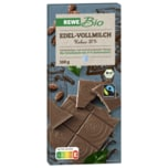 REWE Bio Schweizer Vollmilchschokolade 100g