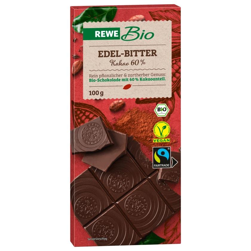 REWE Bio Edelbitter-Schokolade 60% Cacao 100g