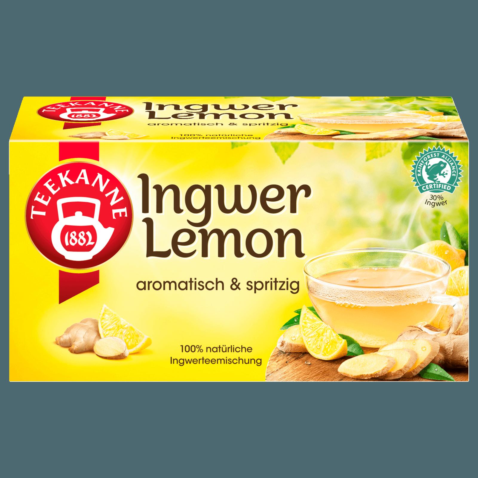 Teekanne Spritziger Ingwer-Lemon 35g, 20 Beutel