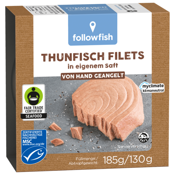 Followfish MSC Thunfisch-Filets Natur 130g