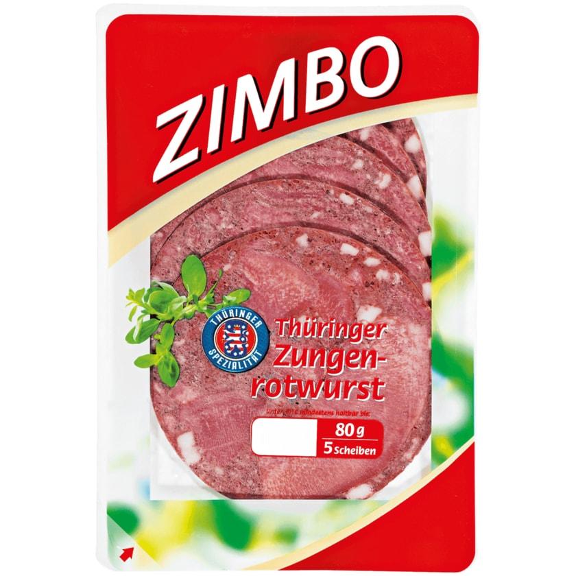 Zimbo Thüringer Zungenrotwurst 80 g
