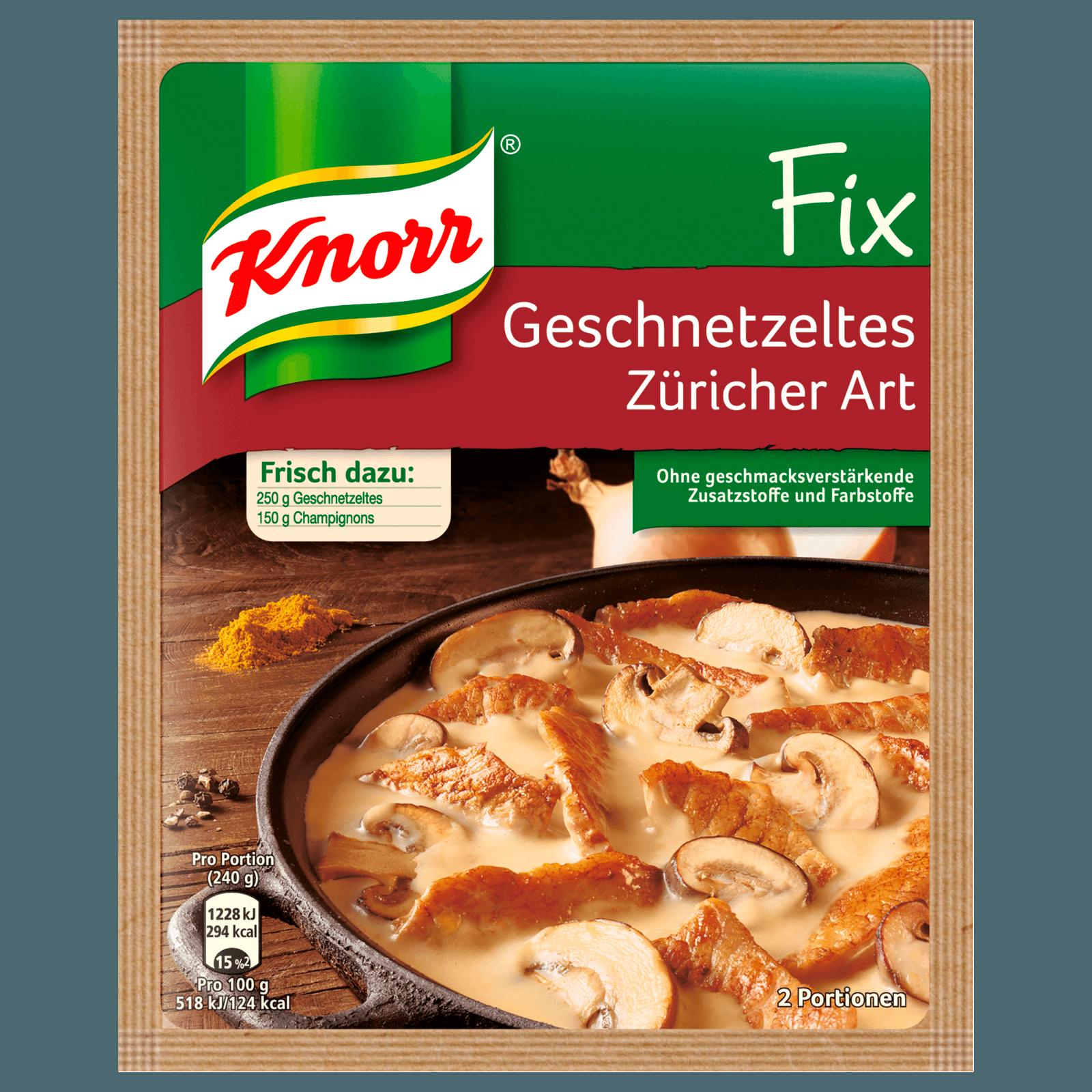 Knorr Fix Geschnetzeltes Züricher Art 2 Portionen
