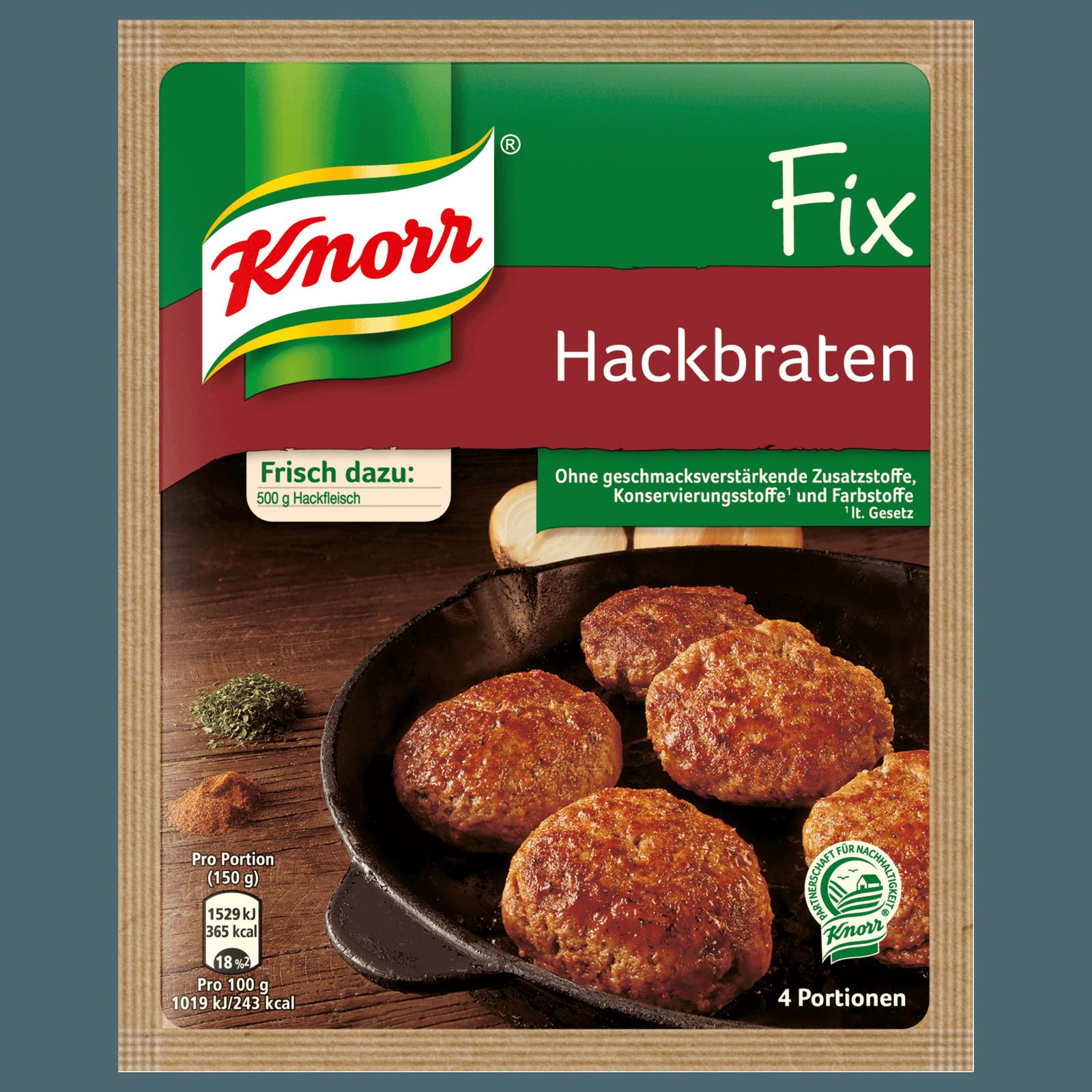 Knorr Fix Hackbraten 4 Portionen