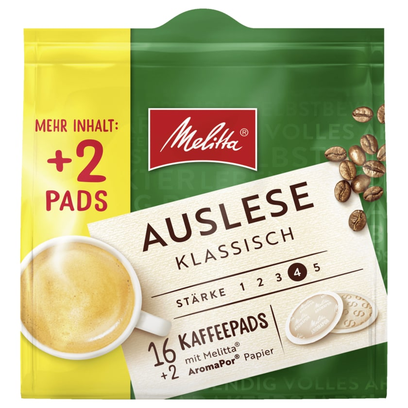 Melitta Café Auslese Klassische Pads 16+2er