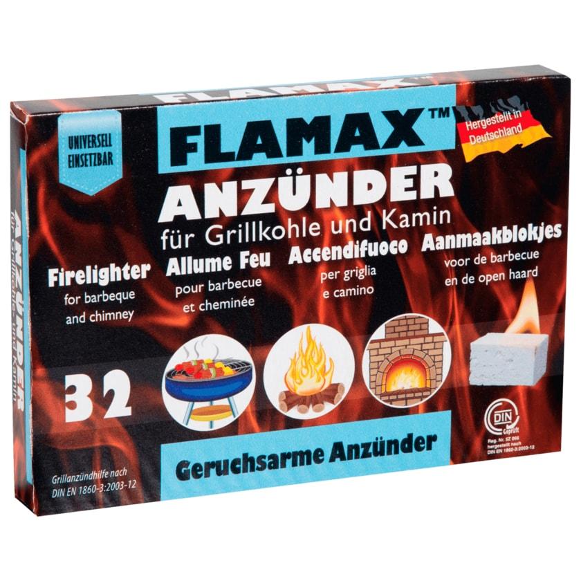Flamax Anzünder für Grillkohle und Kamin 32 Stück
