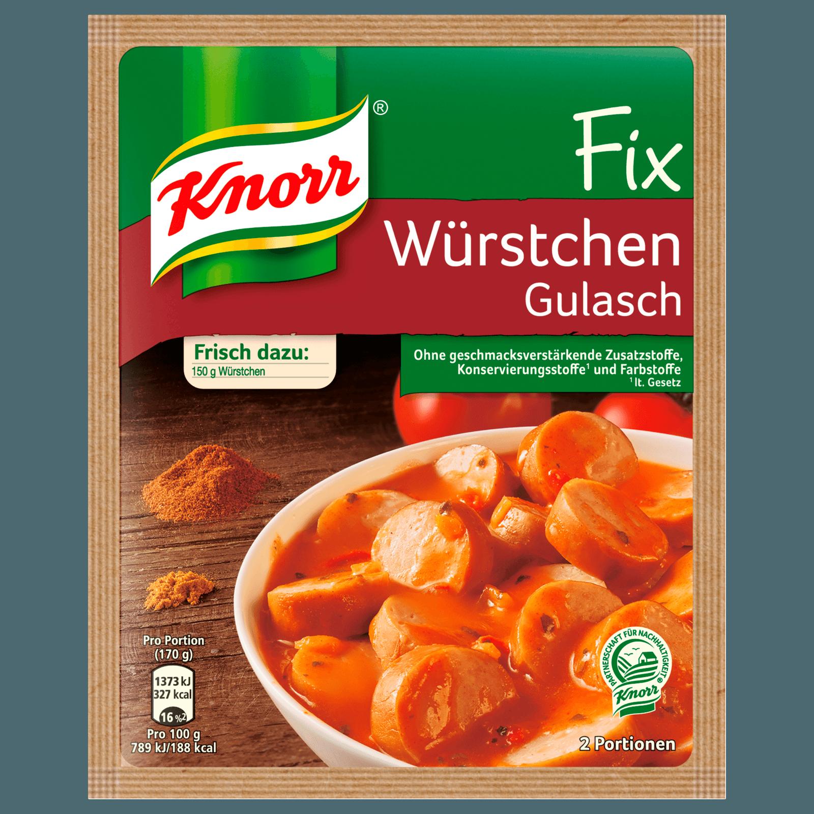 Knorr Fix Würstchen Gulasch 2 Portionen