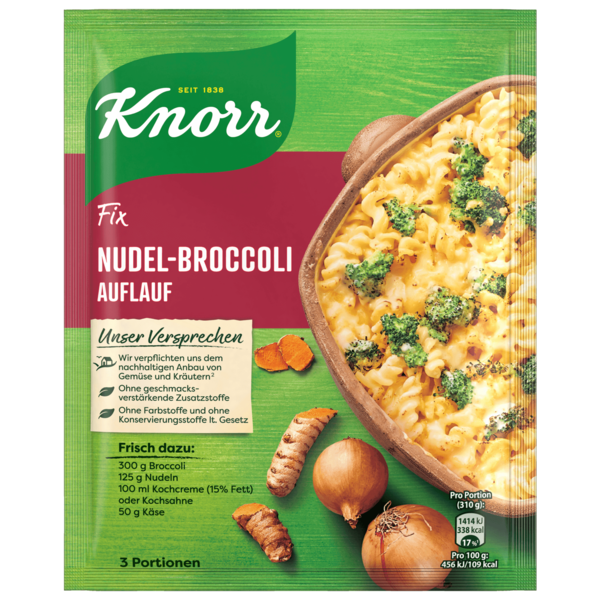 Knorr Fix Nudel-Broccoli Auflauf 3 Portionen