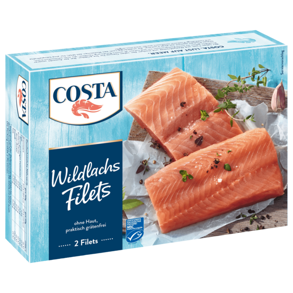 Costa Wildlachsfilets MSC 250g