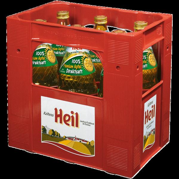 Kelterei Heil Premium-Apfel-Direktsaft 6x1l