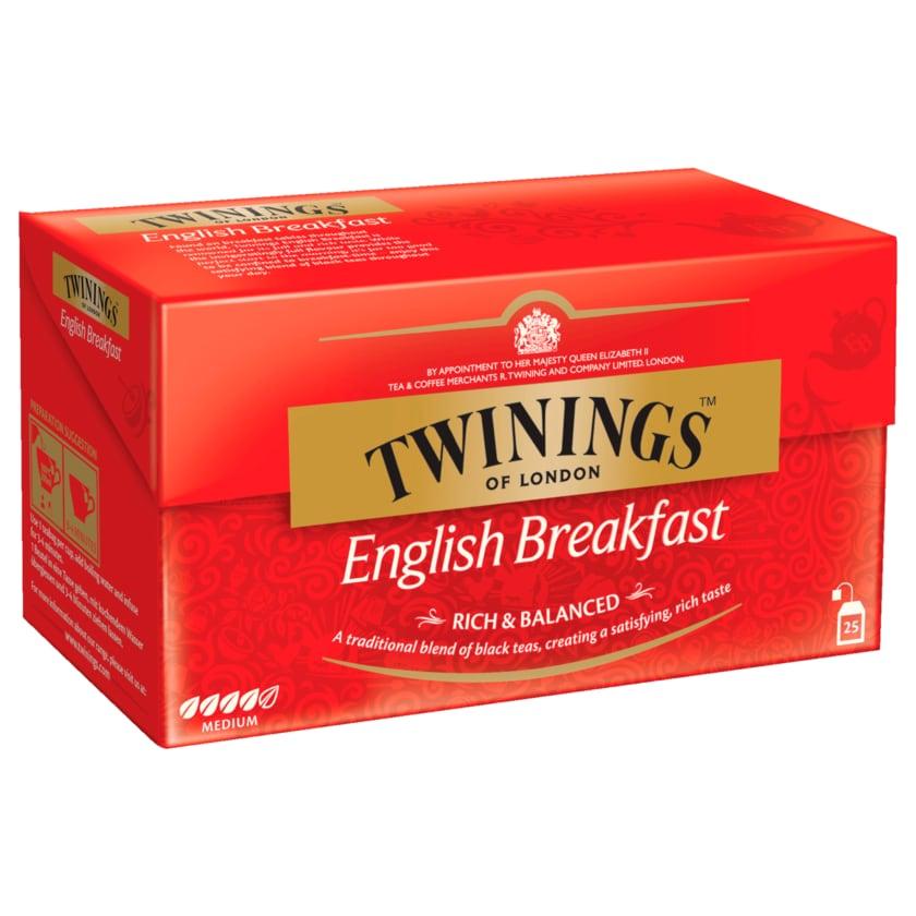 Twinings of London English Breakfast 50g, 25 Beutel