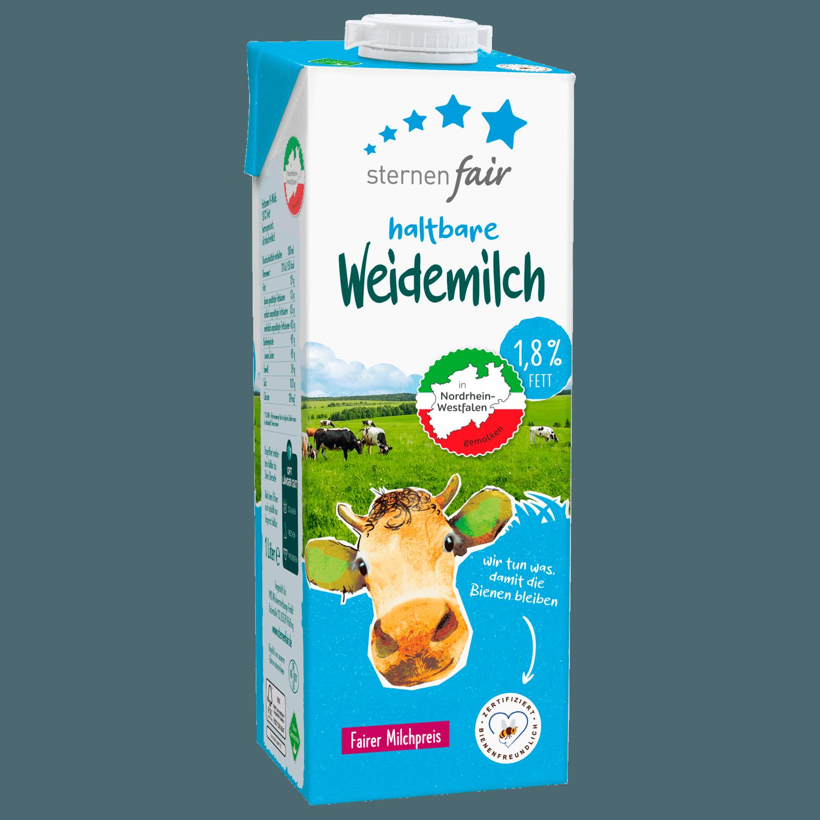 Sternenfair H-Weidemilch 1,8% Fett 1l