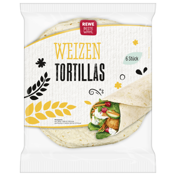 rewe beste wahl tortilla wraps weizen 432g bei rewe online bestellen. Black Bedroom Furniture Sets. Home Design Ideas