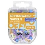 Vivess Pinnwandnadeln bunt 60 Stück