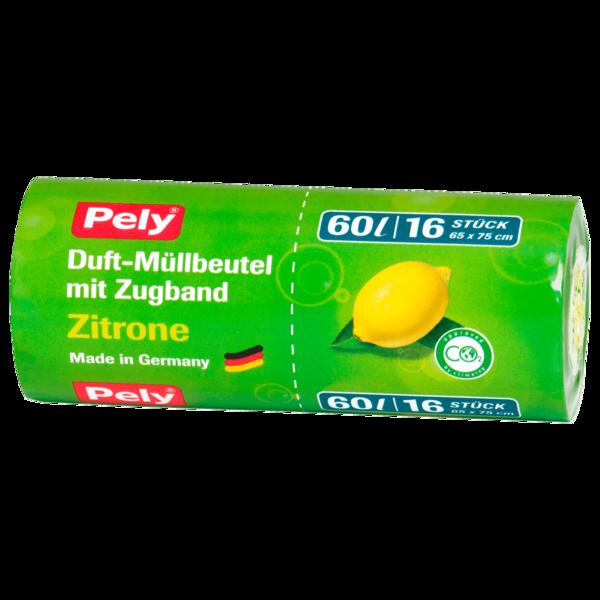 Pely Duft-Müllbeutel Zitrone 60l, 16 Stück