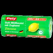 Pely Duft-Müllbeutel Zitrone 20l, 22 Stück