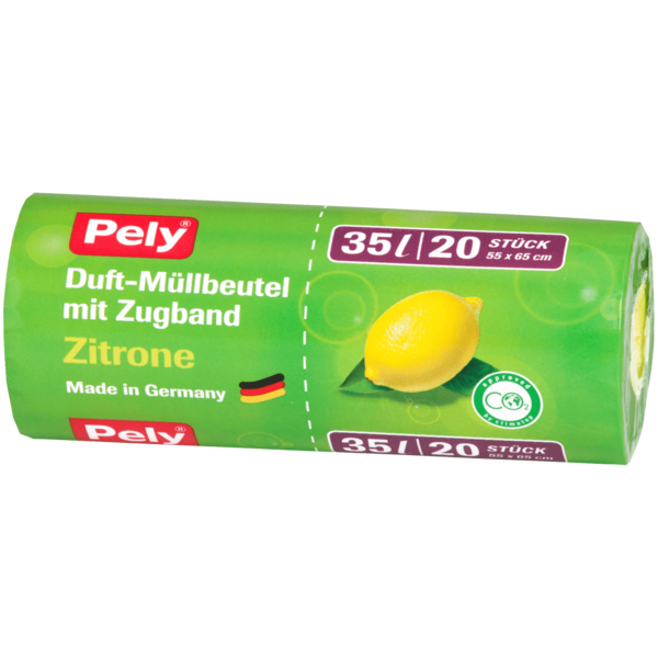 Pely Duft-Müllbeutel Zitrone 35l, 20 Stück