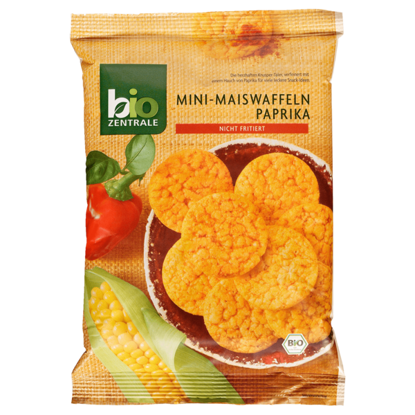 Bio Zentrale Mini-Maiswaffeln Paprika 50g