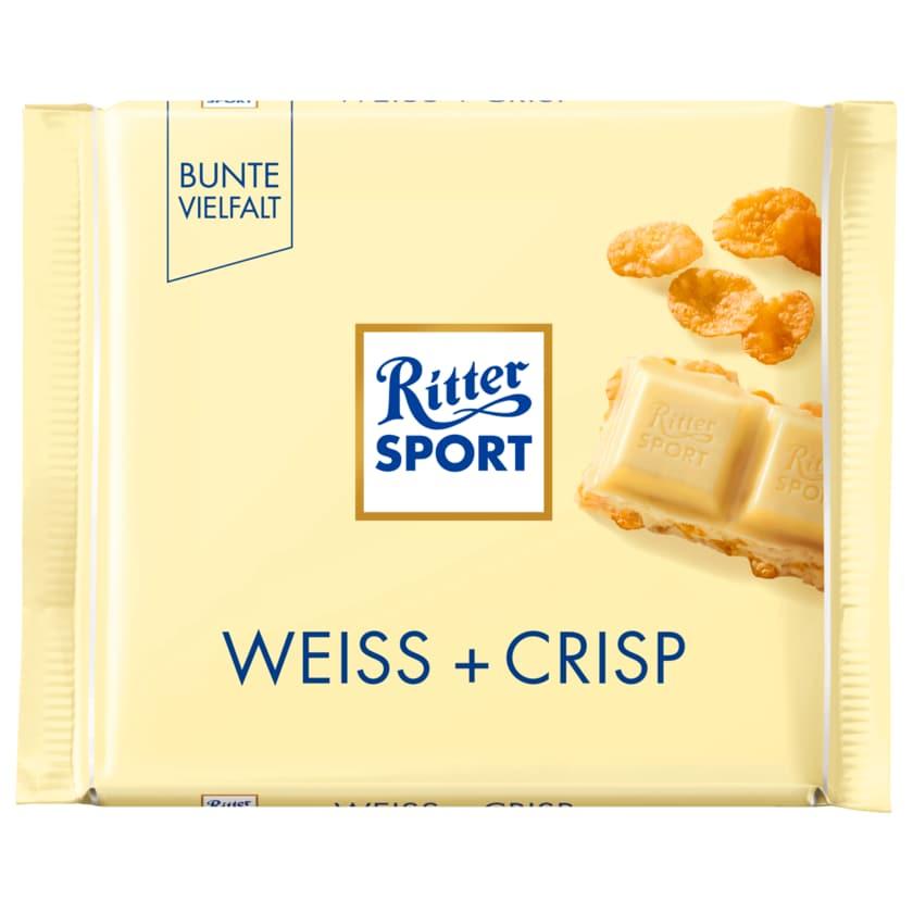 Ritter Sport Schokolade Weiß + Crisp 100g