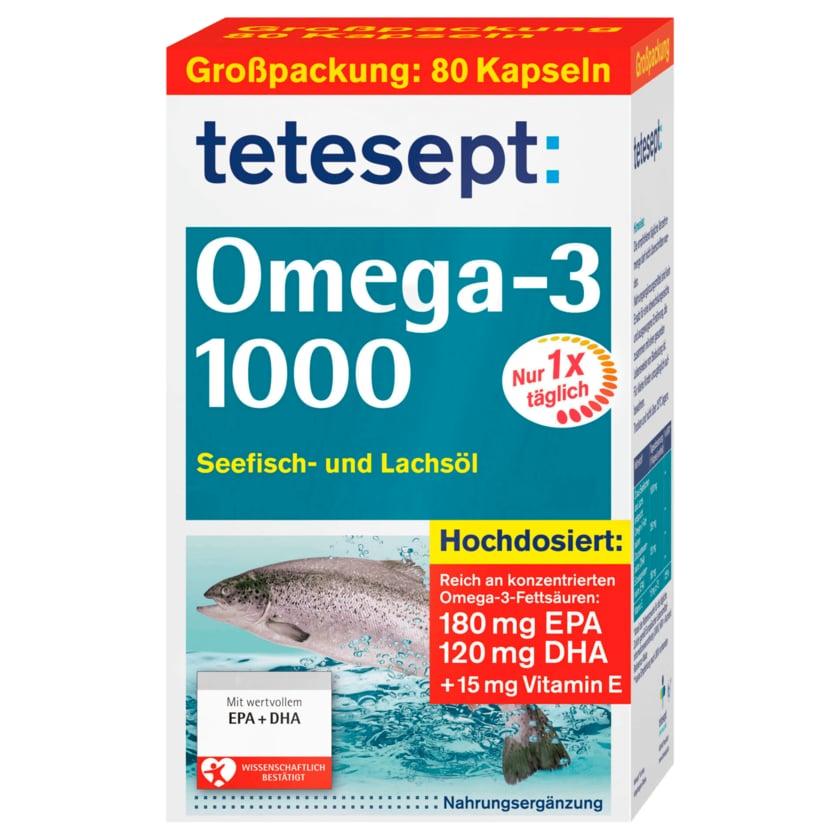 Tetesept Omega-3 1000 80 Stück