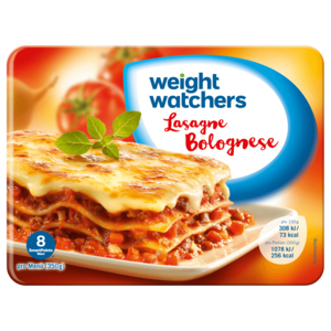 weight watchers gut aufgetischt lasagne bolognese 350g bei. Black Bedroom Furniture Sets. Home Design Ideas
