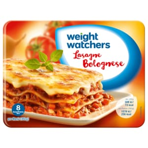 Weight Watchers Gut aufgetischt Lasagne Bolognese 350g