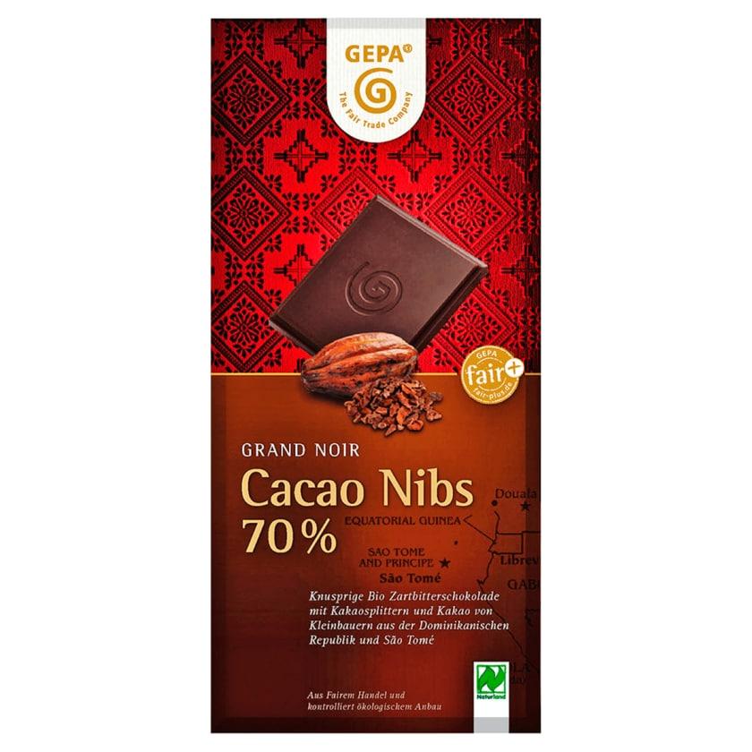 Gepa Bio Schokolade Cacao Nibs 70% 100g