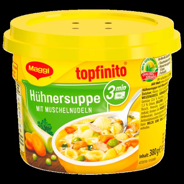 Maggi Topfinito Hühnersuppe mit Muschelnudeln 380g