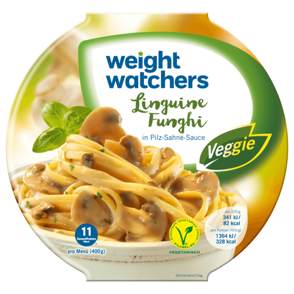 Weight Watchers Gut aufgetischt Linguine in Champignon-Sahnesauce 400g