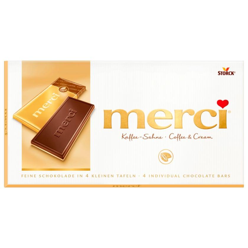 merci Schokolade Kaffee-Sahne 100g