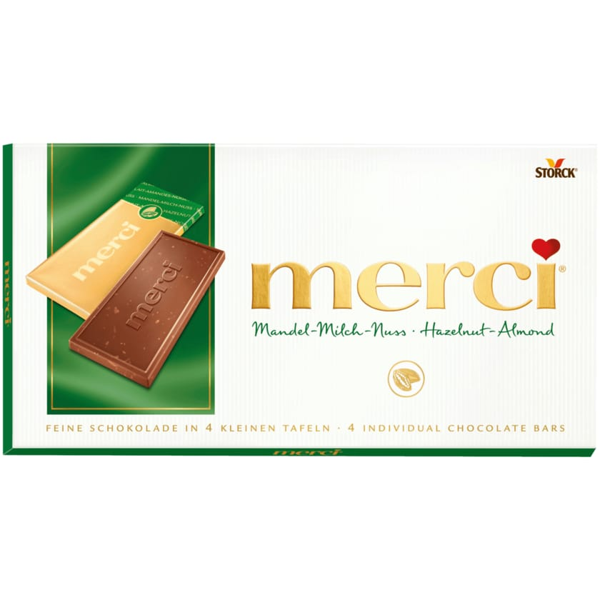 merci Tafel Mandel-Milch-Nuss 100g