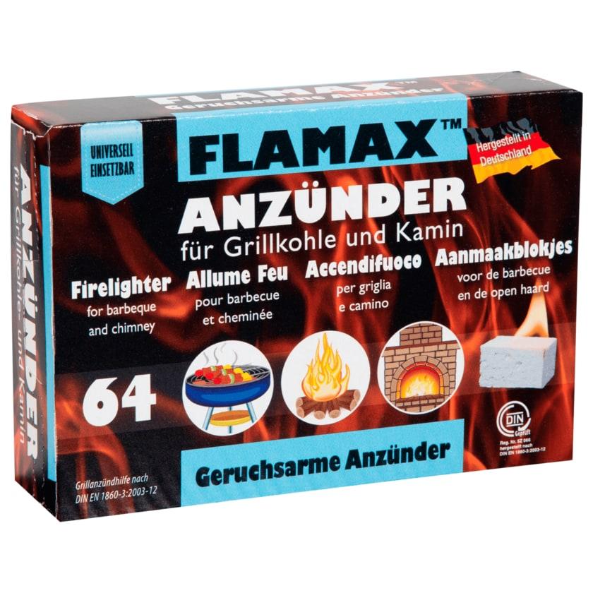 Flamax Grillkohle- und Kaminanzünder 64 Stück