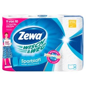 Zewa Wisch & Weg Küchenrollen Sparblatt 4x74 Blatt
