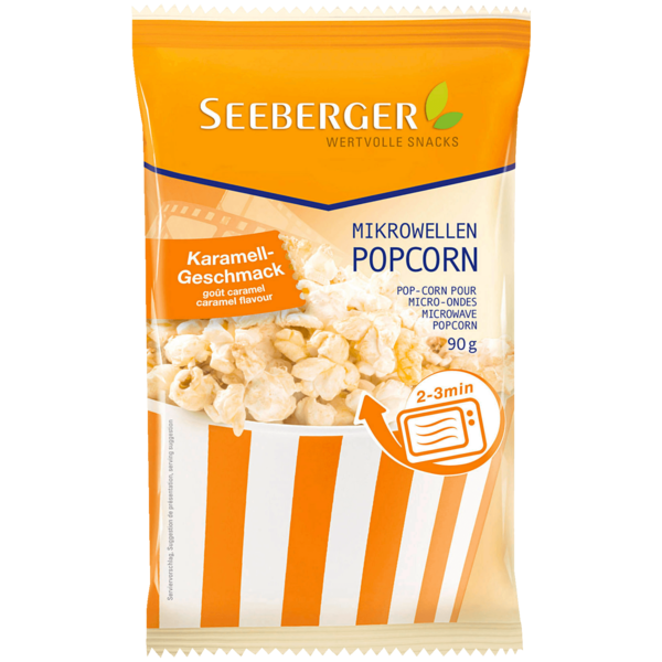 Seeberger Mikrowellen-Popcorn Karamell 90g