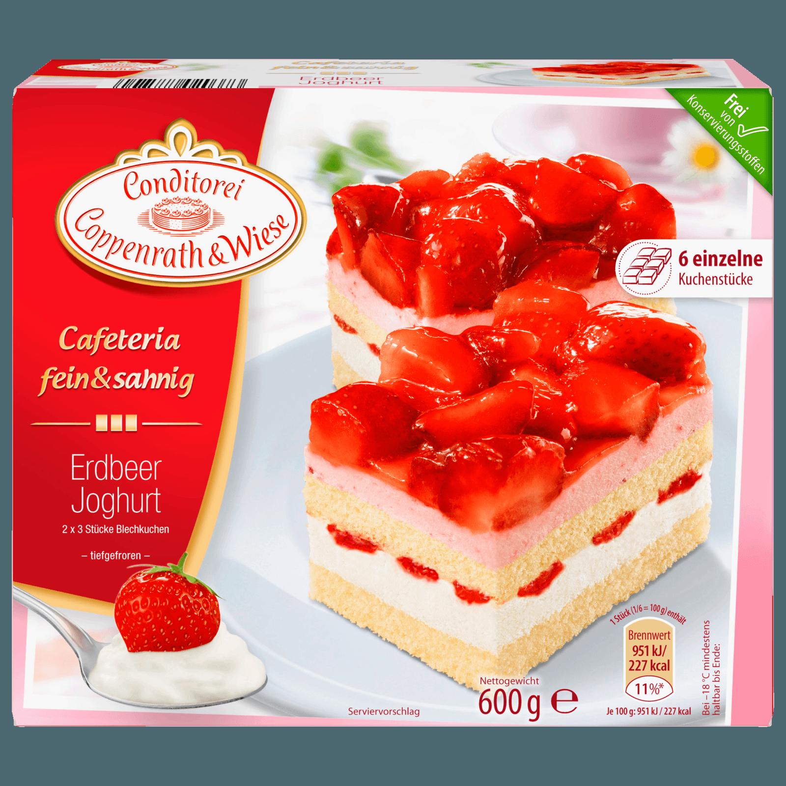 Coppenrath Wiese Cafeteria Erdbeer Joghurt Fein Sahnig 600g 6