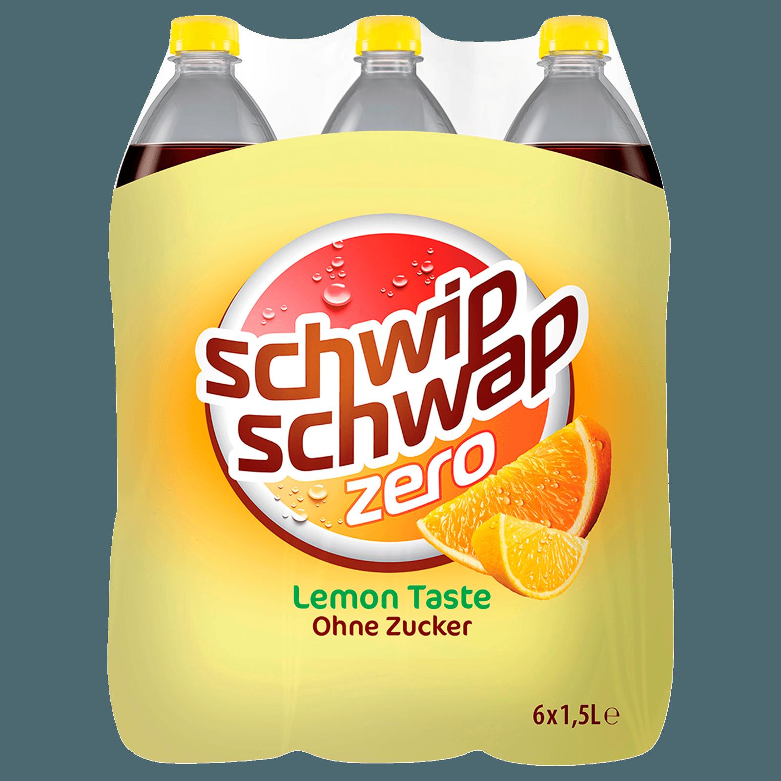 Schwip Schwap Colamix Lemon ohne Zucker 6x1,5l