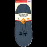 Nur die Ballerina Haussocke Damen schwarz 35-38