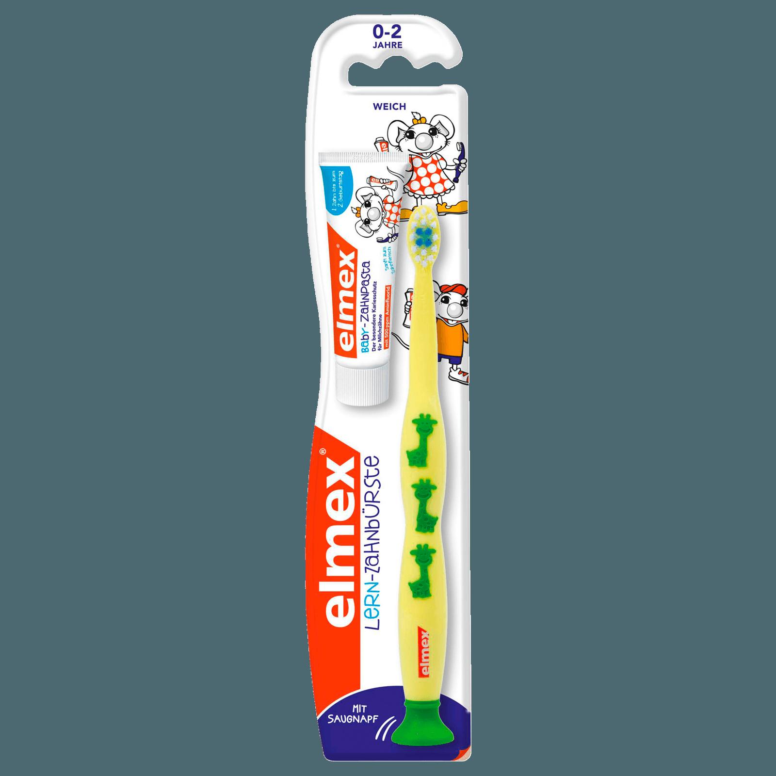 Elmex Lern-Zahnbürste + elmex Kinder-Zahnpasta 12ml