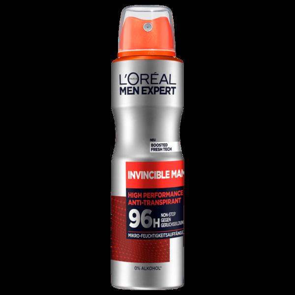 L'Oréal Paris Men Expert Deodorant Invincible Man 96h Anti-Transpirant Spray 150ml