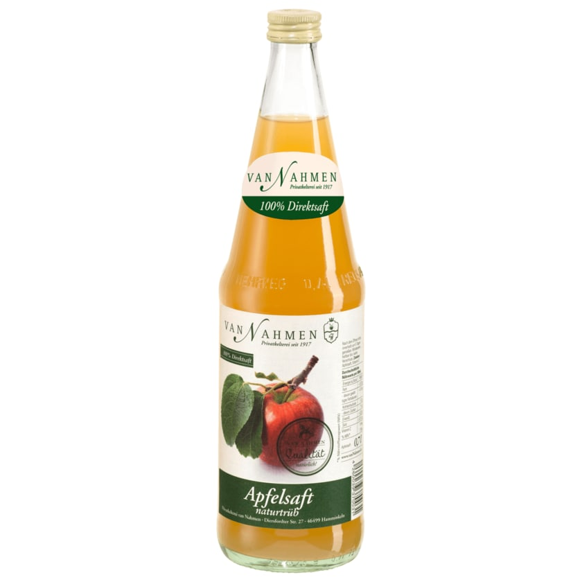 Van Nahmen Apfelsaft naturtrüb 0,7l